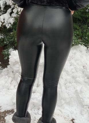 Весна! кожаные лосины высокого качества2 фото