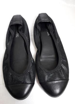 37 р. minelli кожаные удобные мягкие туфли балетки