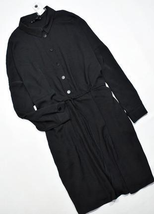 Чорне плаття-сорочка оверсайз