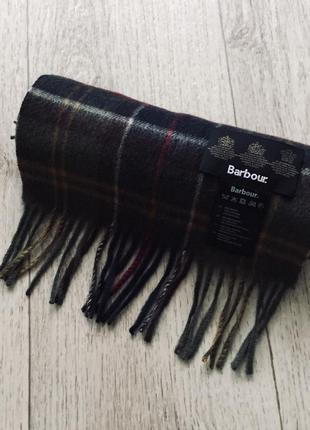 Зимний клетчатый шарф