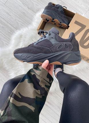 Шикарные кроссовки adidas yeezy boost 700 utility black унисекс 😍 (весна/ лето/ осень)