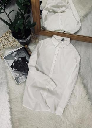 Біла котонова рубашка від h&m🌿
