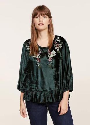 Фактурная бархатная блуза mango 50-54