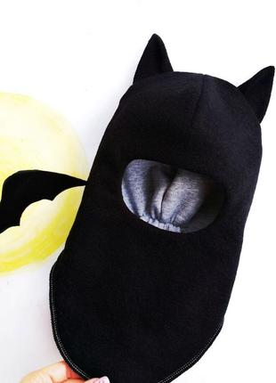 Шапка шлем бэтмен зимняя тёплая