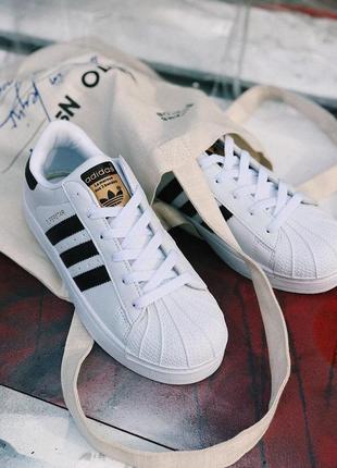 Шикарные женские кроссовки adidas superstar white 😍 (весна/ лето/ осень)