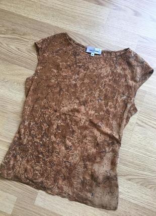 Valentino шелковая блуза майка