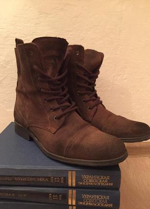 Демисезонные ботинки замшевые