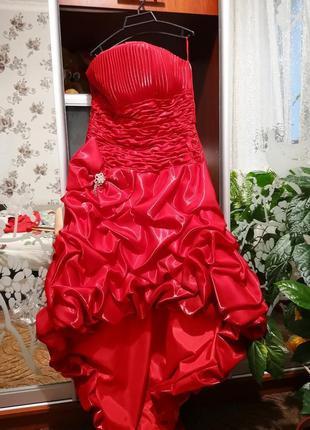 Сценическое платье с корсетом и шлейфом/ платье для выступлений/выпускное