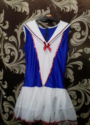 Танцевальное боди-платье