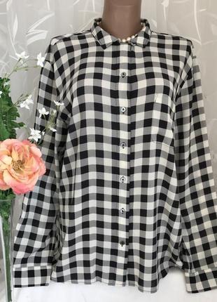 Новая ♥️😎♥️ вискозная блузка в клетку marc o polo.