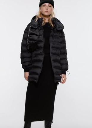 Стёганная куртка zara размер xs s m