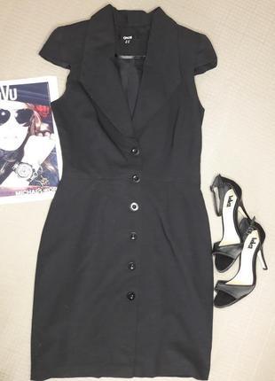 Стильное чёрное платье на пуговках asos размер m