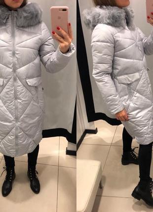 Зимнее пальто куртка mohito