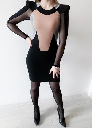 Платье мини в геометричний  принт julien macdonald