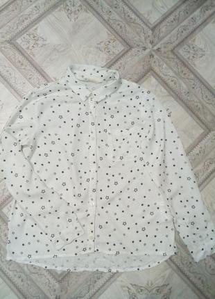 Блуза со звездами фирмы h&m 11-12 лет
