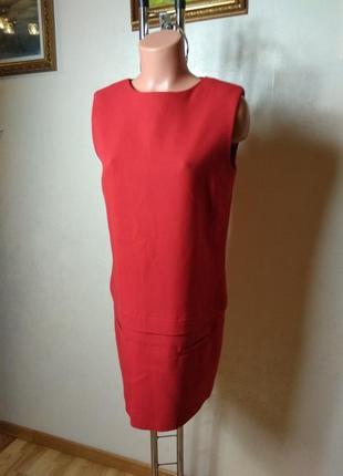 Красное короткое платье zara