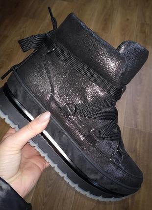 Зимние кожаные ботинки fabio gutti