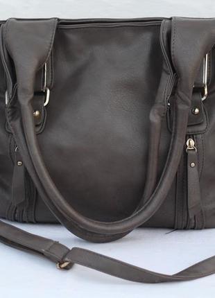 Большая кожаная сумка из германии