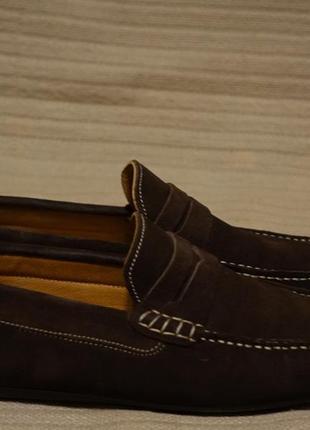 Шикарные замшевые мокасины шоколадного цвета lufian турция 43 р.