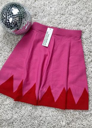 Яркая трикотажная сочная юбка