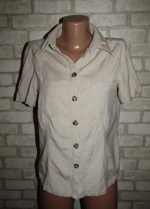 Натуральная рубашка р-р м-38 лён collection