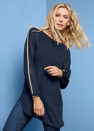 Интересная новая блуза -туника с контрасными лампасами от tchibo (германия)