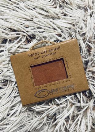 Couleur caramel пудра с золотым шиммером 6,5г оригинал новая