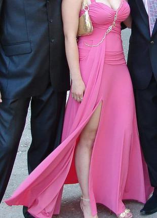 Длинное вечернее выпускное платье seam