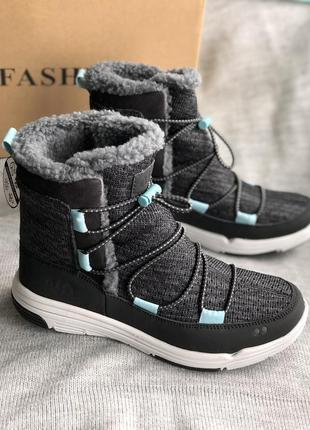 Серые дутики, водонепроницаемые зимние сапоги, ботинки