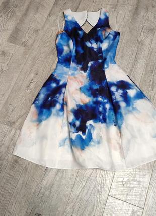 Платье абстракция с принтом абстракция