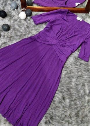 Миди платье с драпировкой marks & spencer
