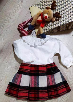Юбка и блуза для девочки 9-12 месяцев.