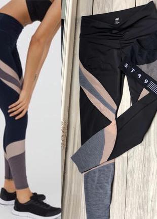 Стильный костюм для спорта лосины с сетками м