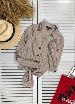 🌿 нюдовая рубашка с узлом от primark