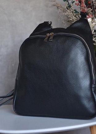 Сумка рюкзак из натуральной кожи флотар италия