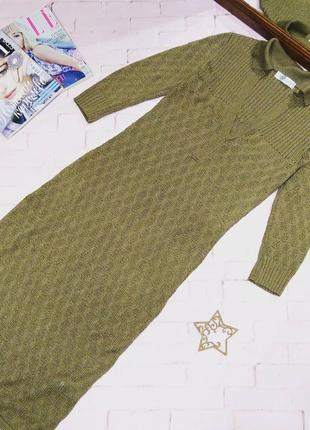 Вязаное платье свитер поло topshop