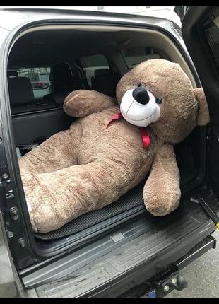 Большой плюшевый мишка отличный подарок на праздники мягкий медведь