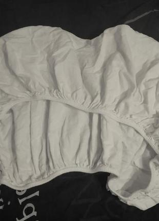 Простынка в кроватку, ikea, 60х120-140х20см.