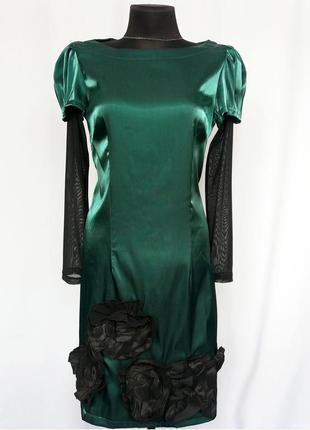Дешево. красивое платье, объемные цветы. турция. новое, р. 42-48