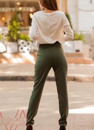 Трендовые стильные брюки хаки оливковый
