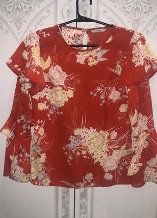Красивая блуза от george , рукава воланы