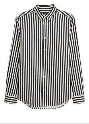 Стильная шёлковая полосатая рубашка h&m