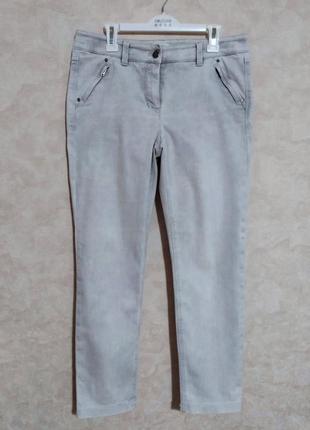 Светло-серые джинсы fit comfort, мом, relaxed, l-xl
