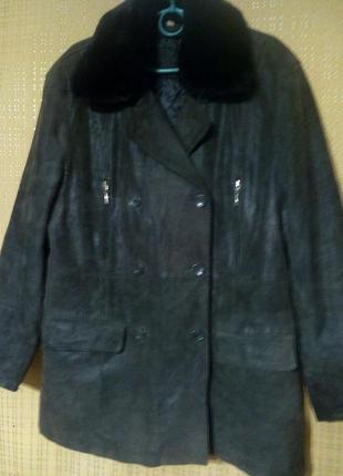 Кожаная куртка с лазерным покрытием от stones & bones