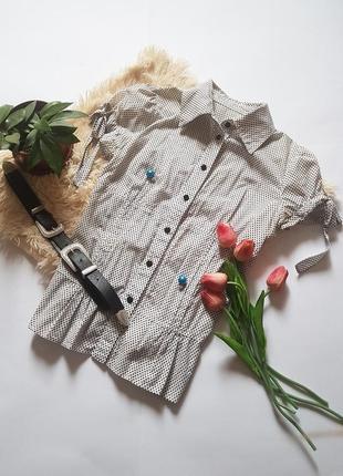 Чудова базова  блуза у горох