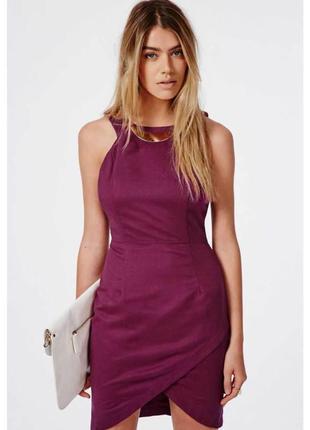 Брендовое бордовое вечернее нарядное короткое мини платье missguided этикетка