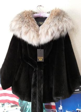 Lux роскошная норковая шуба кимоно с рысью