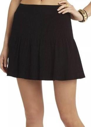 Ультра модная бандажная юбка гофре солнце-клёш от бренда bcbg max azria м/38