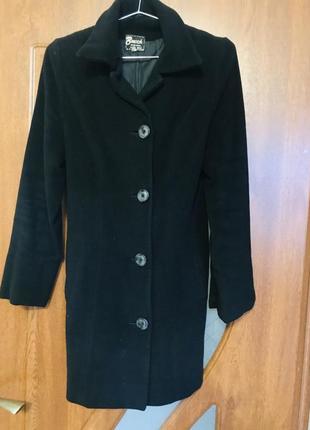 Пальто классическое, чёрное пальто осеннее