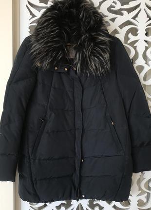Пуховое пальто оверсайз oversize zara